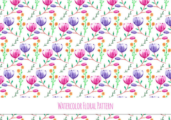 Beautiful Free Vector Floral Pattern - Kostenloses vector #418093