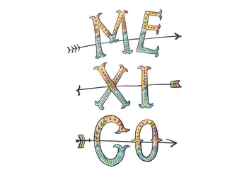 Mexico Lettering Illustration - vector gratuit #418223