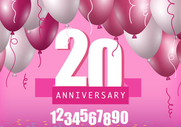 Anniversary Template - vector gratuit #418573