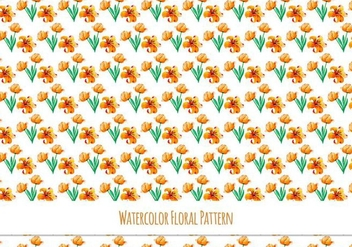 Free Vector Watercolor Pattern With Cute Yellow Flowers - Free vector #418613