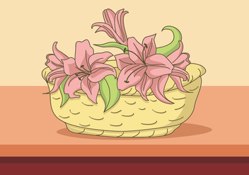 Easter Lily In The Bucket - Free vector #418683