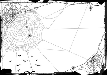 Halloween Seamless Background With Web Spider - Free vector #418763