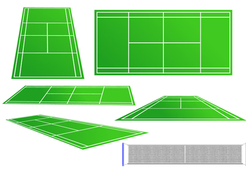 Tennis Court Vector Set - Kostenloses vector #418783