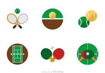 Free Flat Tennis Vector Icons - Kostenloses vector #418803