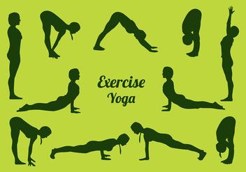 Siluetas Yoga Free Vector - Kostenloses vector #418823