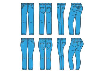 Blue Jean Vectors - Free vector #418883