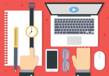 Free Digital Marketing Business Vector Illustration - Kostenloses vector #419013