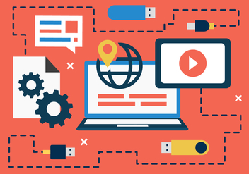Free Flat Digital Marketing Concept Vector - Kostenloses vector #419063