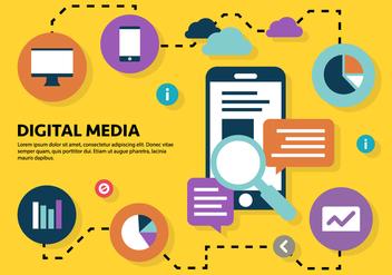 Free Digital Marketing Business Vector Illustration - Free vector #419283