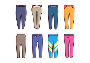 Free Sweatpants Vector Pack - Free vector #419333
