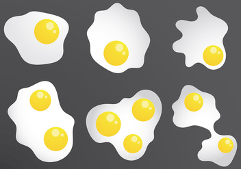 Free Fried Egg Icons Vector - vector gratuit #419483