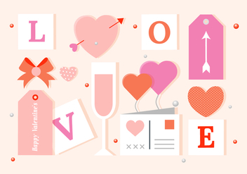 Free Vector Valentine's Day Elements And Icons - Free vector #419503