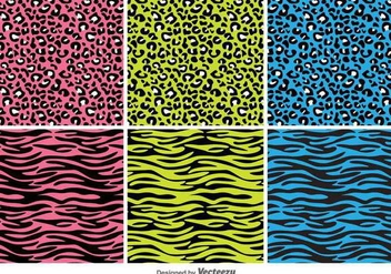 Animal Print Vector Patterns - Kostenloses vector #419963