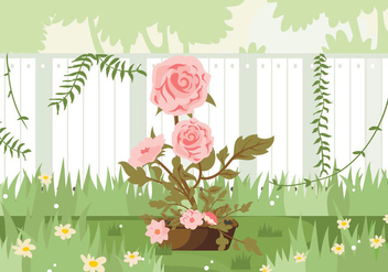 Camellia Flowers Pink Garden Illustration - vector gratuit #420023