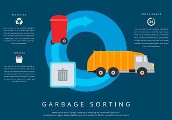 Landfill Garbage Sorting - Kostenloses vector #420283