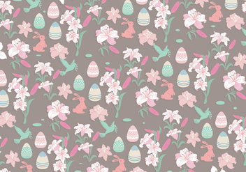 Easter Lily Pattern Vector - Free vector #420353