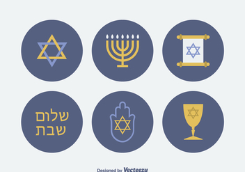 Free Jewish Vector Icons - Free vector #420393