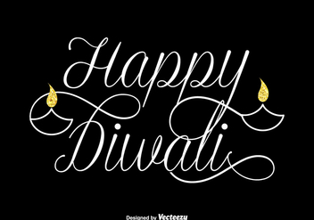 Free Happy Diwali Vector Lettering - бесплатный vector #420413