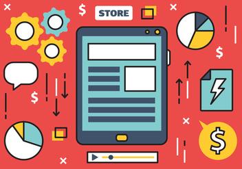 Free Online Marketing Vector Illustration - Free vector #420433