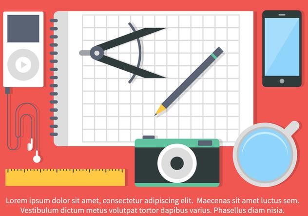 Free Vector Flat Design School Elements - Free vector #420443