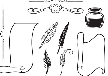 Free Antique Writing Vectors - vector gratuit #420533