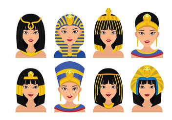 Cleopatra Queen Vector - Free vector #420673