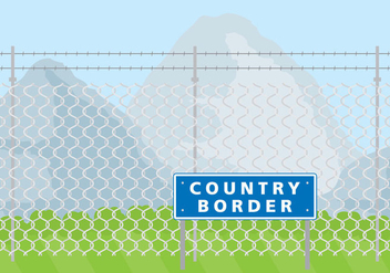 Country Border - vector gratuit #420863