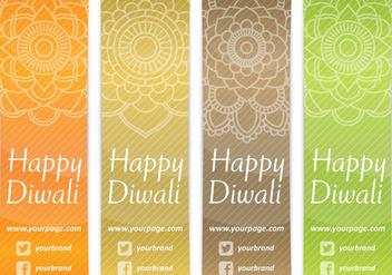 Diwali Bookmarks - Free vector #420873