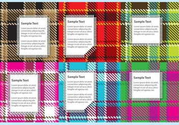 Flannel Fabric Vectors with Labels - vector gratuit #420923