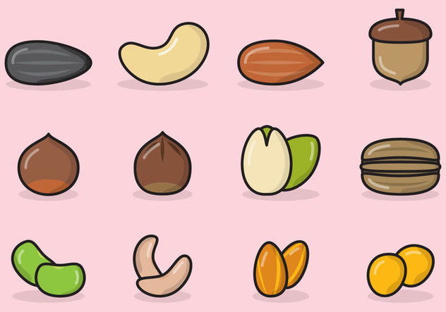 Cute Seed Icons - Free vector #420933