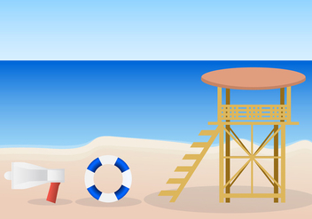 Life guard stand vector - Kostenloses vector #420953