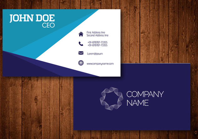 Creative Visiting cards - Free vector #420973