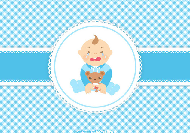 Vector Cute Crying Baby Boy - бесплатный vector #420993