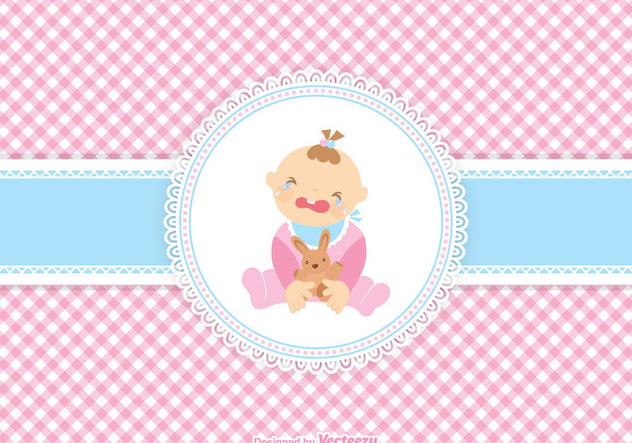 Cute Crying Baby Girl Vector - vector gratuit #421043