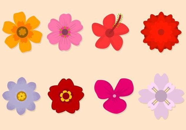 Free Flower Vector Collection - vector gratuit #421093