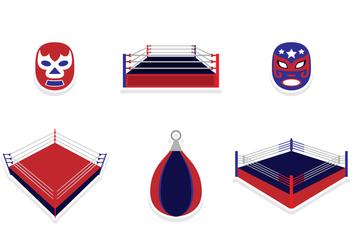 Wrestling Sticker Design - Free vector #421103