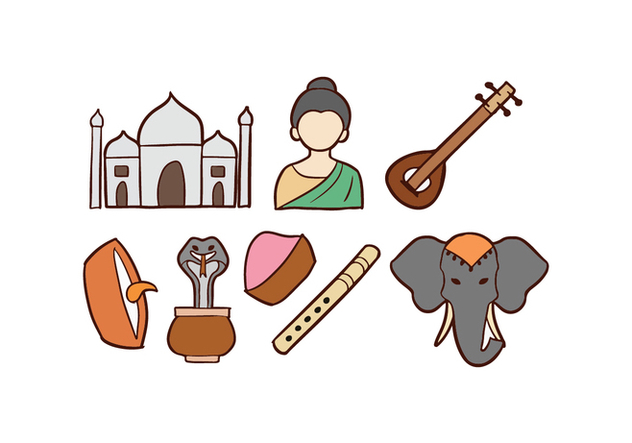 India Doodle Icons - бесплатный vector #421123
