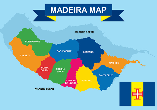 Madeira Maps Vector - vector gratuit #421143
