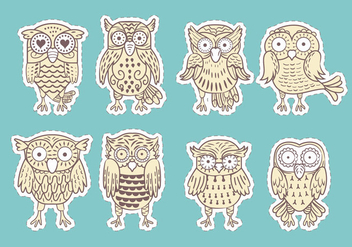 Buho or Owls Vectors Collection - Free vector #421313