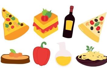 Free Italian Food Vector - vector gratuit #421343