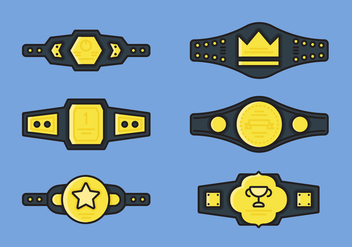 Championship Belt Vector Icon Sets - Free vector #421353