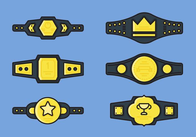 Championship Belt Vector Icon Sets - Free vector #421353