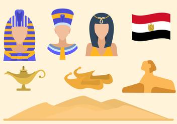 Flat Egypt Vectors - Free vector #421403