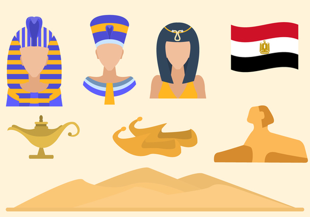 Flat Egypt Vectors - Kostenloses vector #421403
