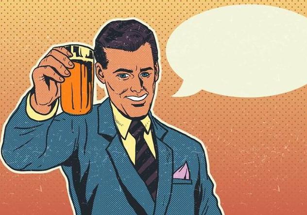Vector Cheers Businessman With Pint of Beer - Kostenloses vector #421483