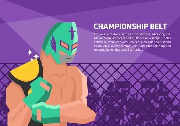 Lucha Libre Champion Vector Background - Kostenloses vector #421503