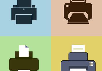 Fax Icon Vectors - Free vector #421543