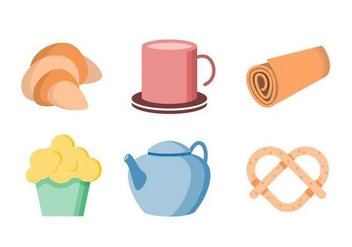 Free Cute Tea Time Objects Vector - vector #421653 gratis