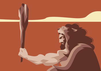 Hercules With Lion Cloak Vector - Free vector #421683