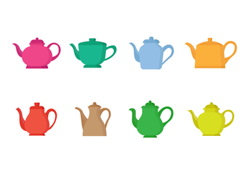 Free Set of Teapots - бесплатный vector #421733